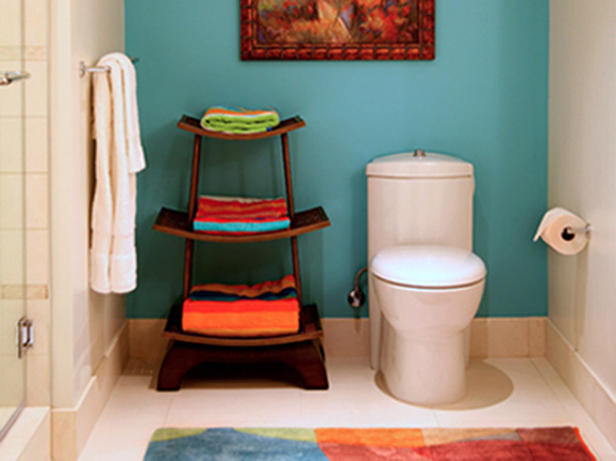 Color tips for the chromatically timid creating joyful for Orange and blue bathroom designs