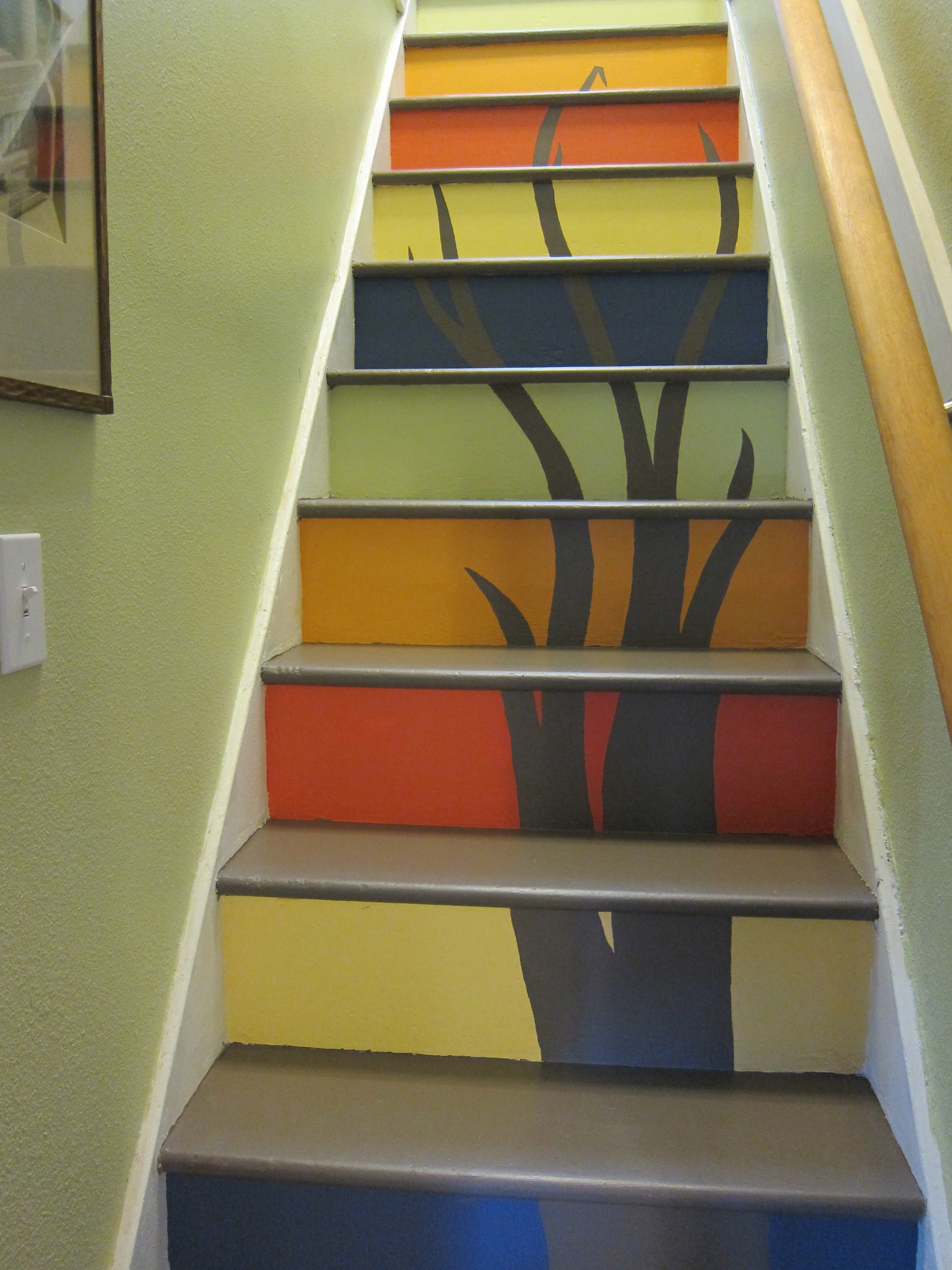 transform your stairs with paint and art. Black Bedroom Furniture Sets. Home Design Ideas